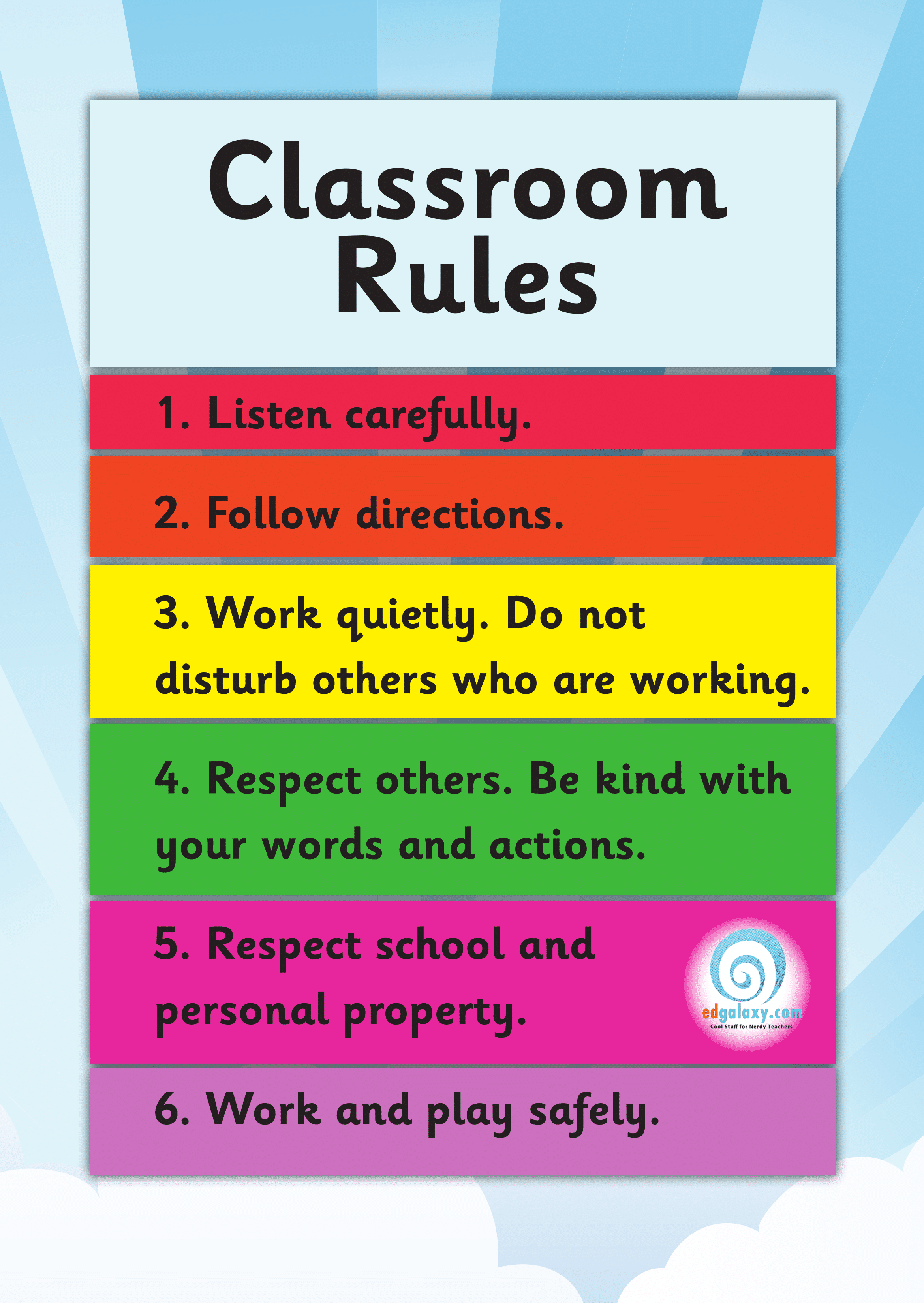 It's just a picture of Gratifying Printable Classroom Posters