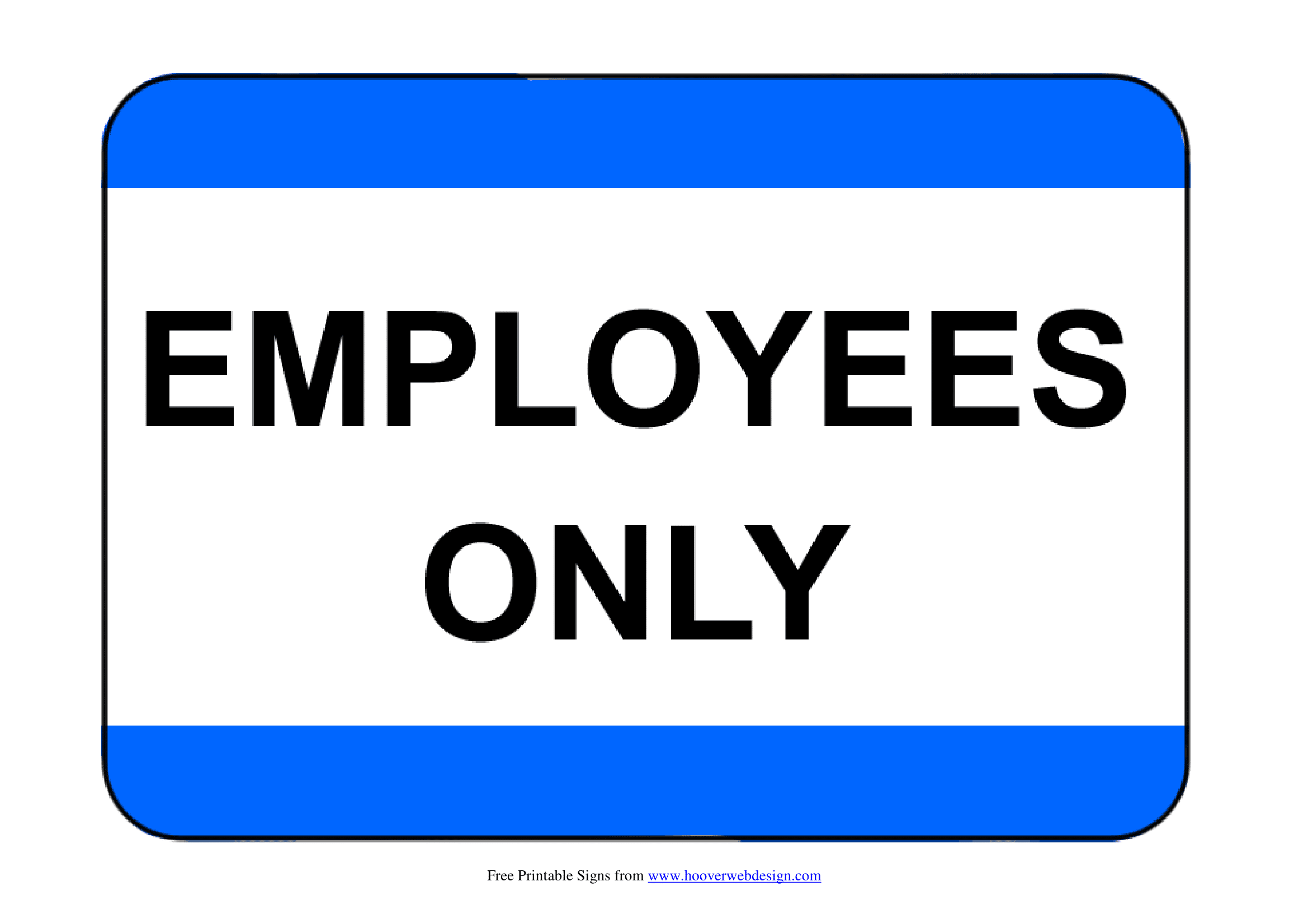 photo about Printable Employees Only Sign named Workers Simply Indications Poster Template