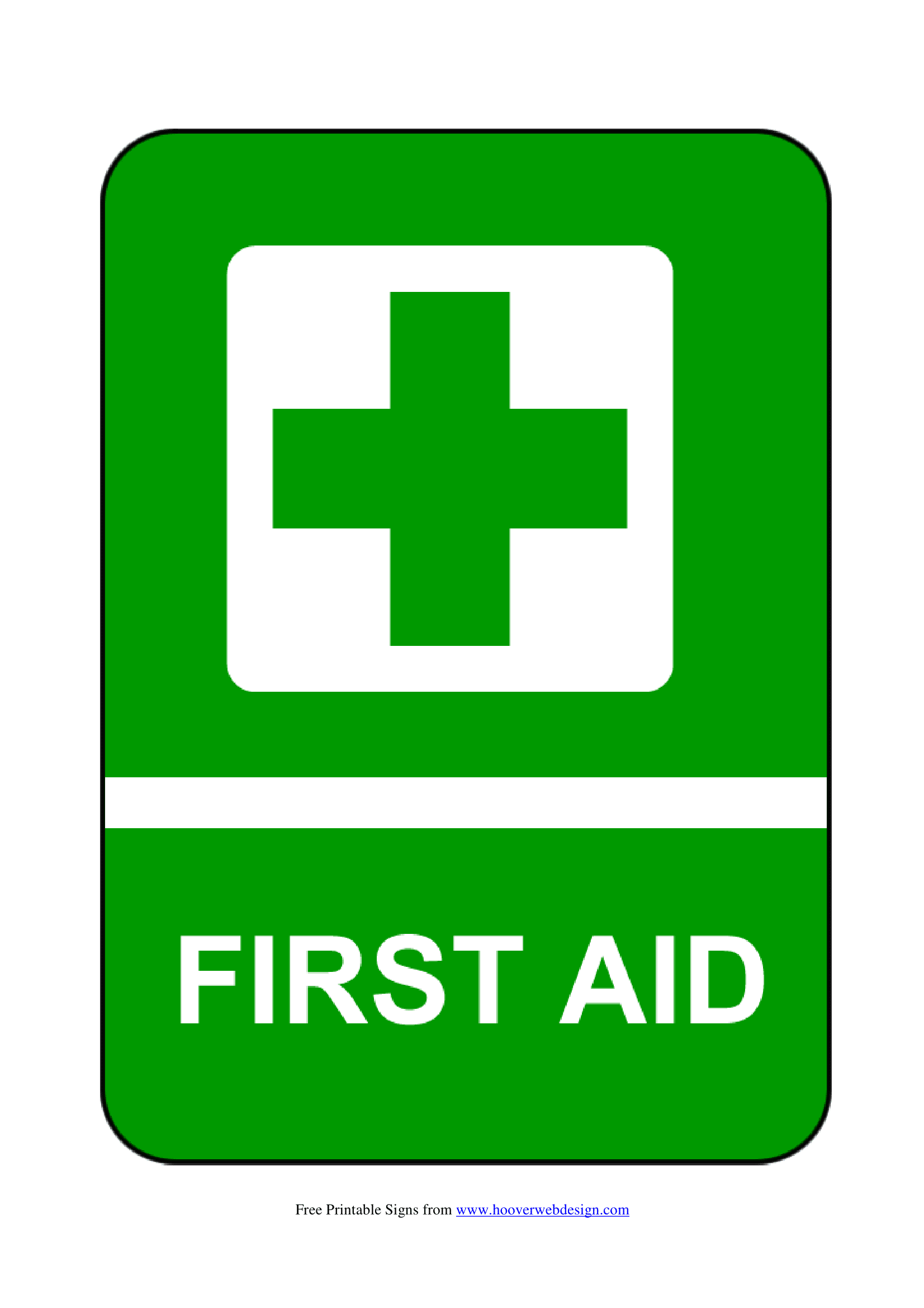 first aid kit signs
