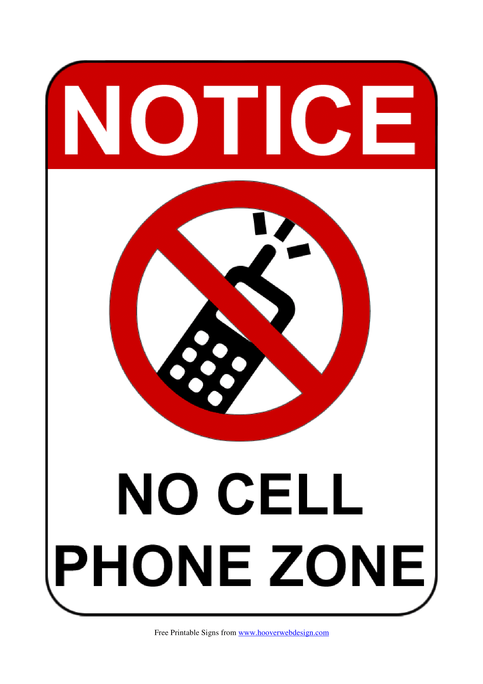 no mobile phone signs