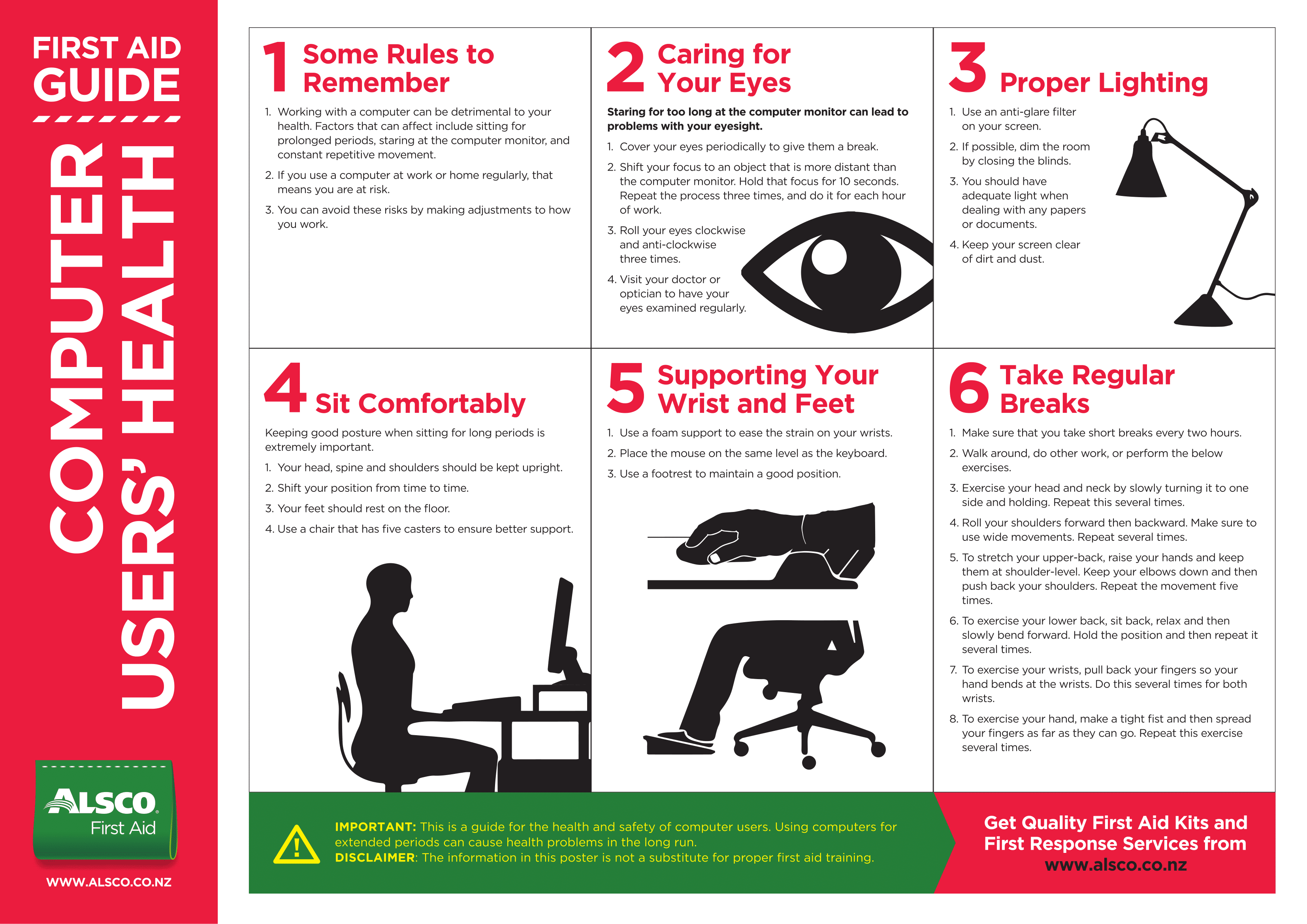 Computer Screen & VDU Safety Posters | Poster Template