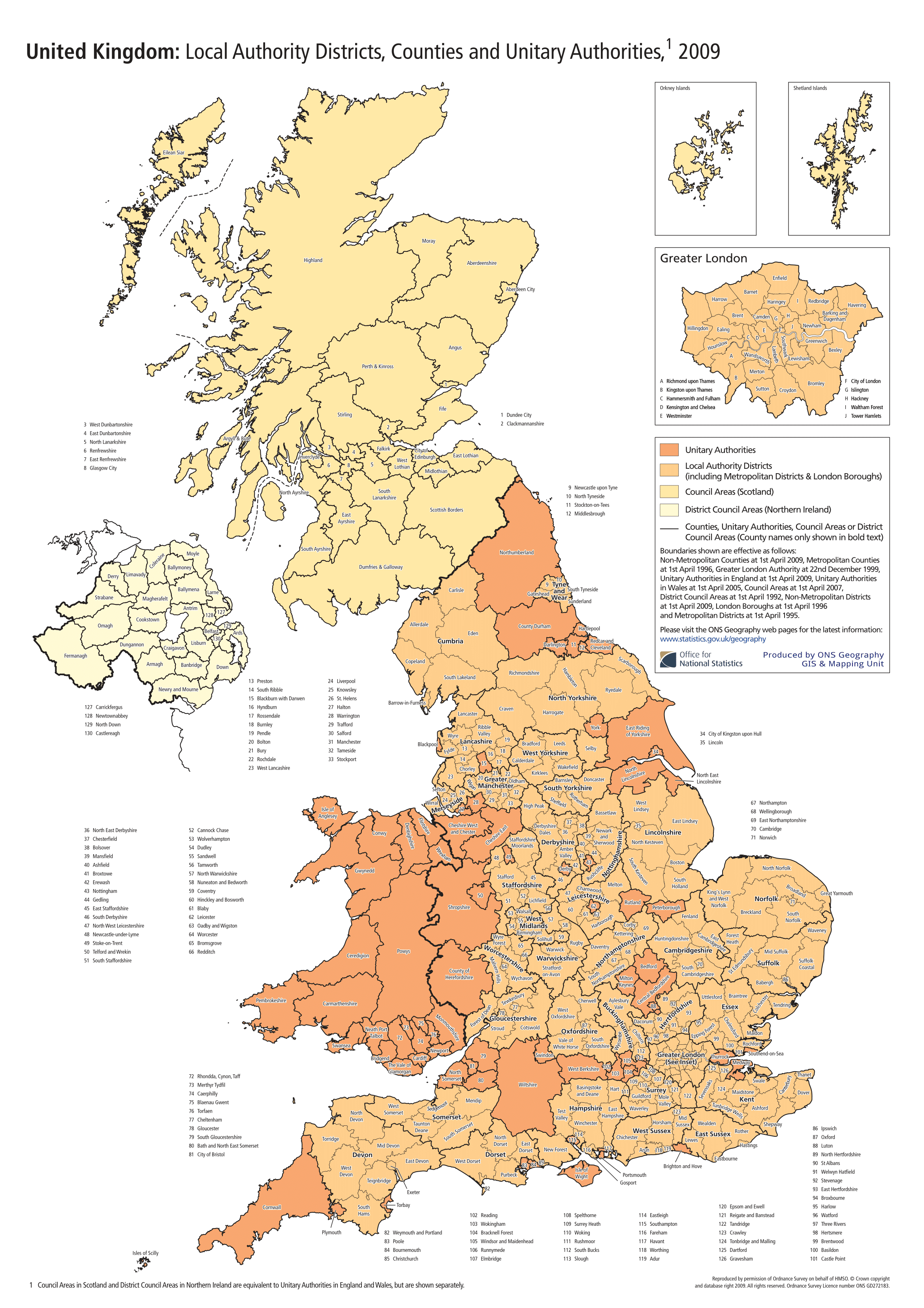 Map Of Uk Local Authorities.Geography Posters Poster Template