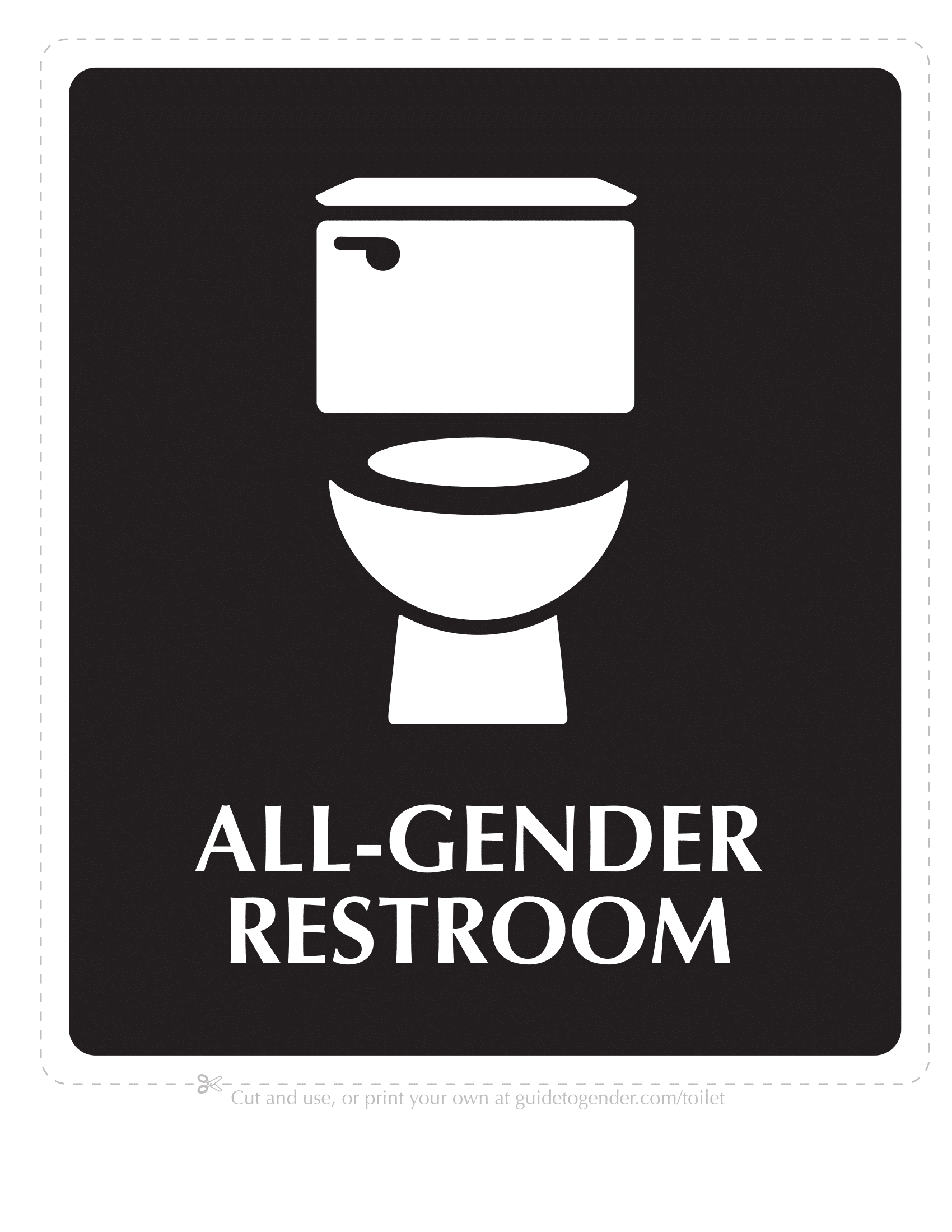 Bathroom Signs | Poster Template