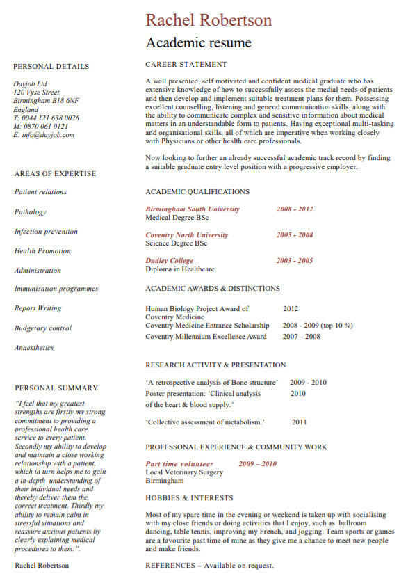 academic-resume-template-sample Sample Curriculum Vitae Teacher on for phd, offer letter, graduate school, for professional contract, medical doctor, science research, for accountant partner, for administrative assistant,