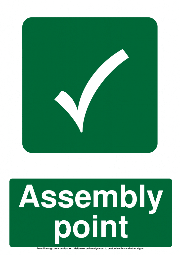 Fire Assembly Point Signs Poster Template
