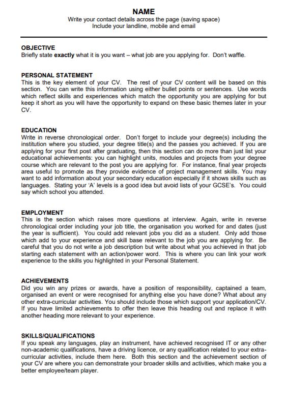 curriculum vitae templates