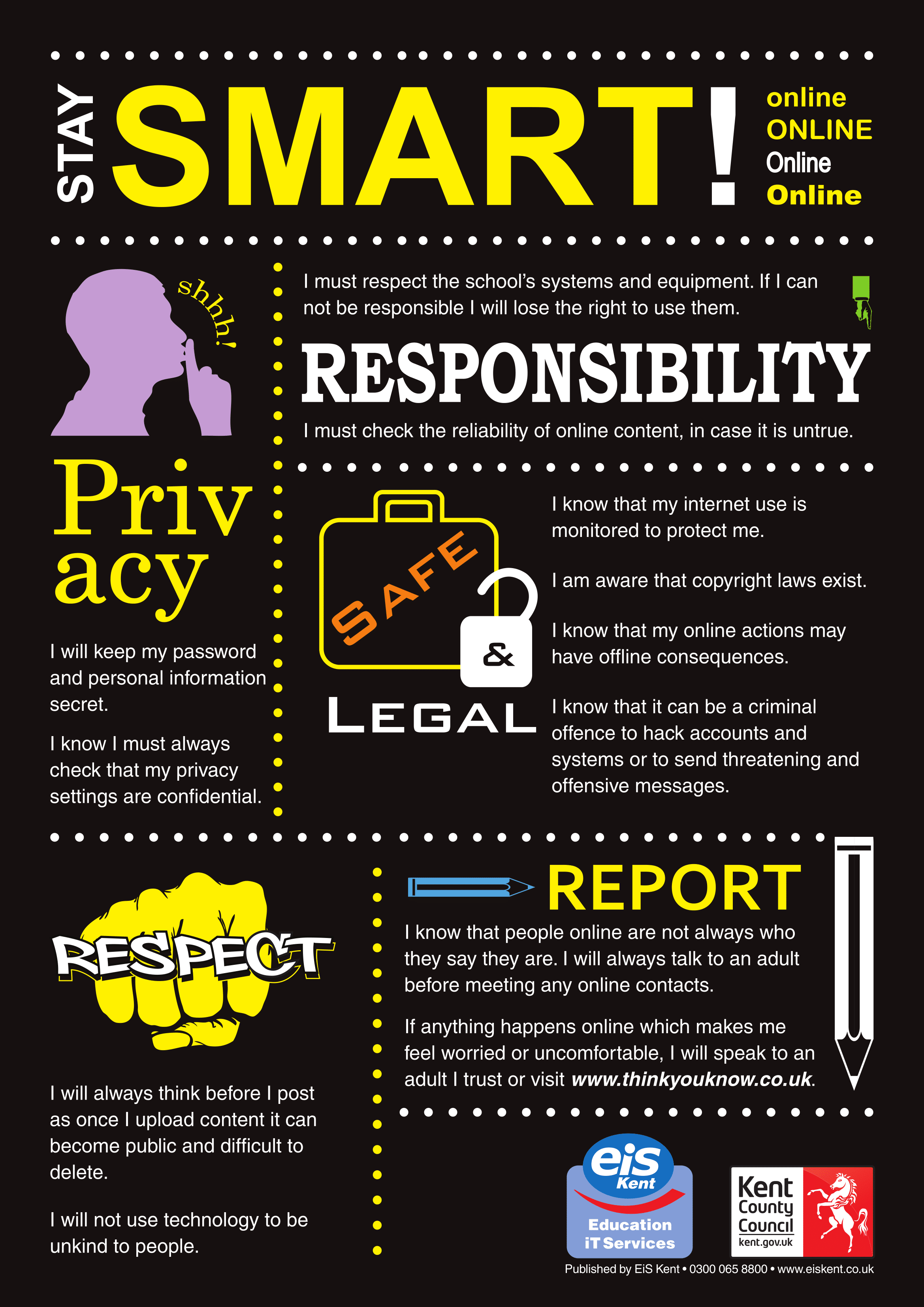 Internet Safety posters | Poster Template
