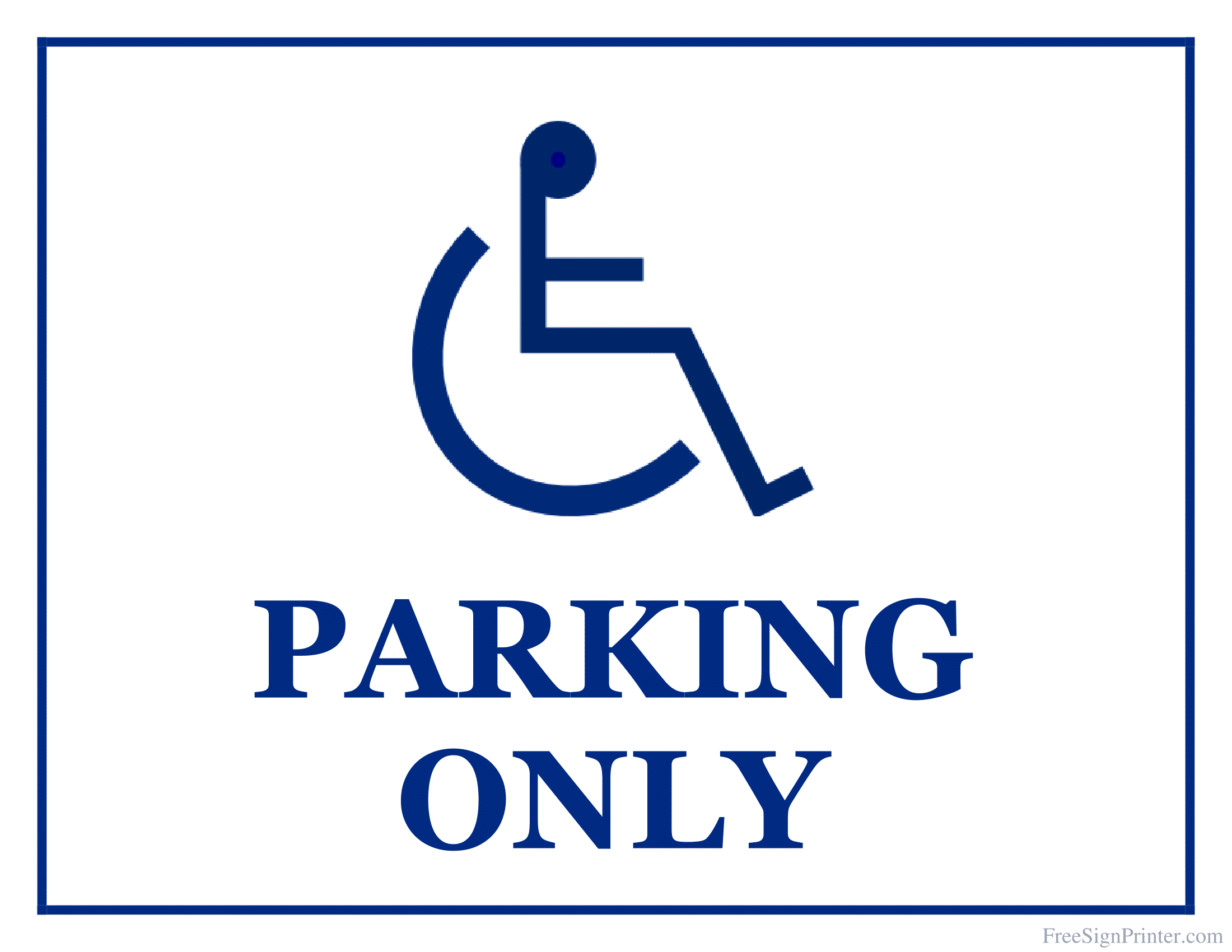Disabled Parking Signs Poster Template