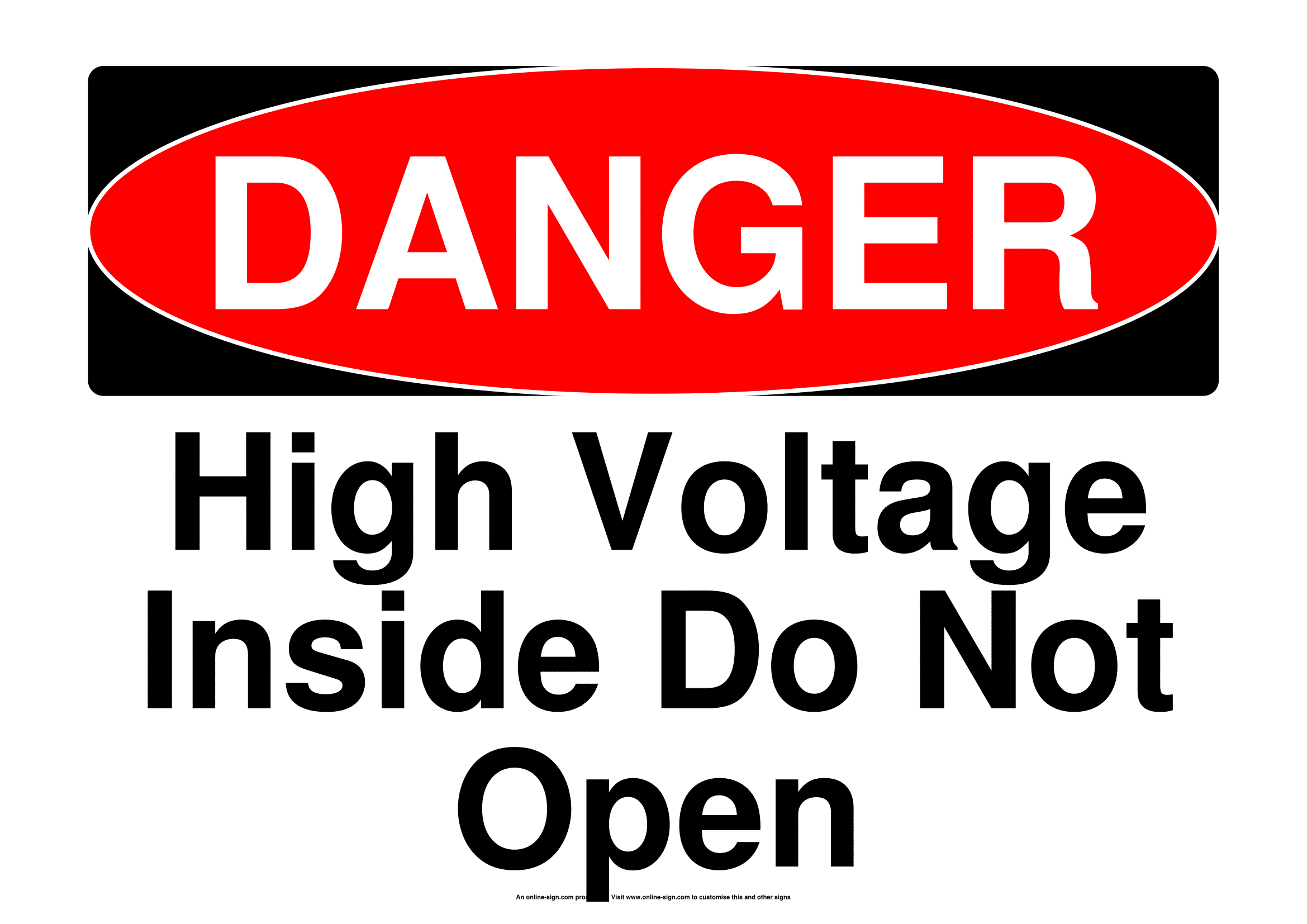 Electrical Safety Signs   Poster Template