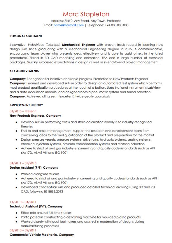 Mechanical phd resume