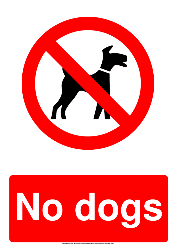 This is a graphic of Magic No Pets Allowed Sign Free Printable