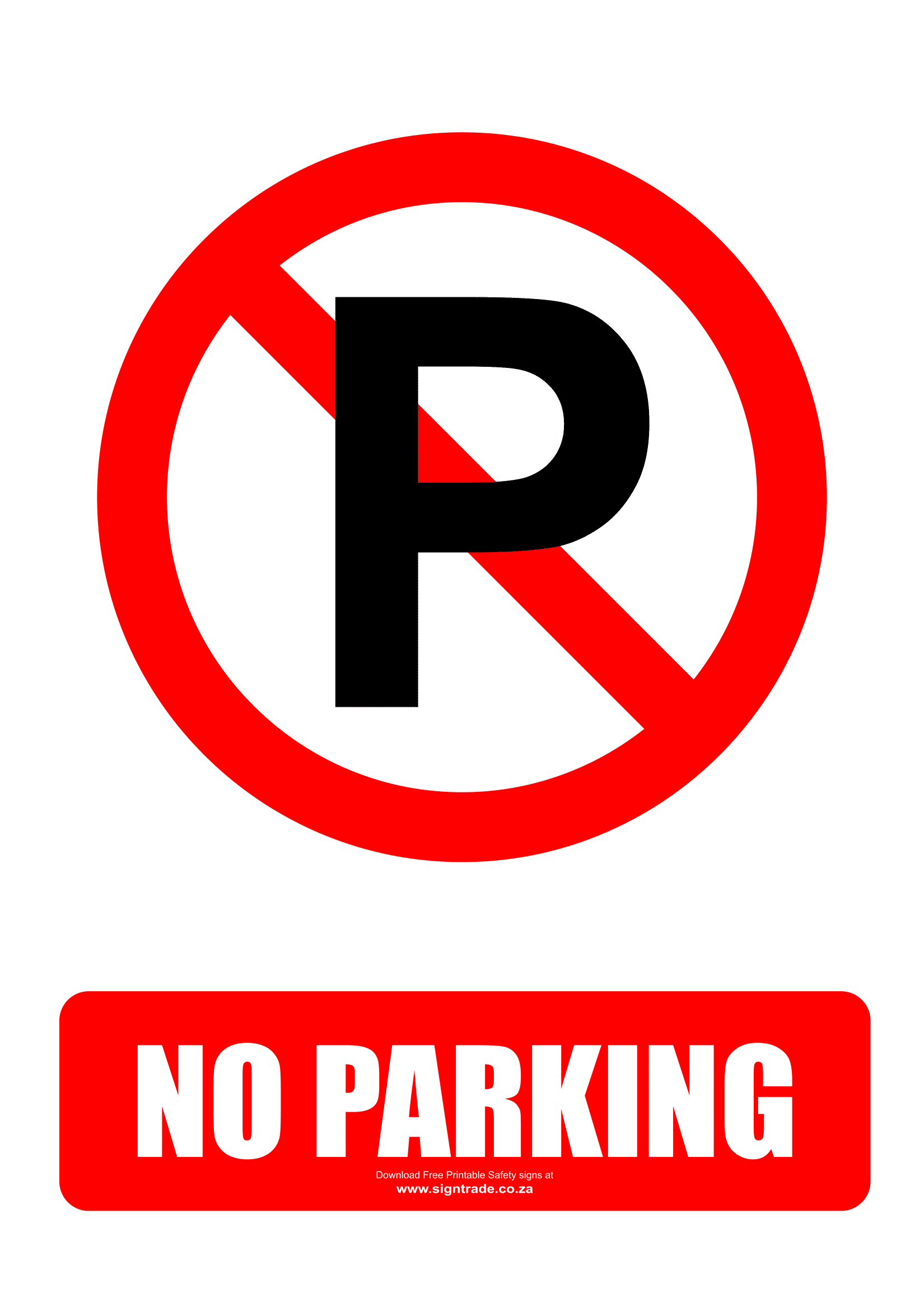 graphic about Free Printable Safety Signs titled No Parking Symptoms Poster Template