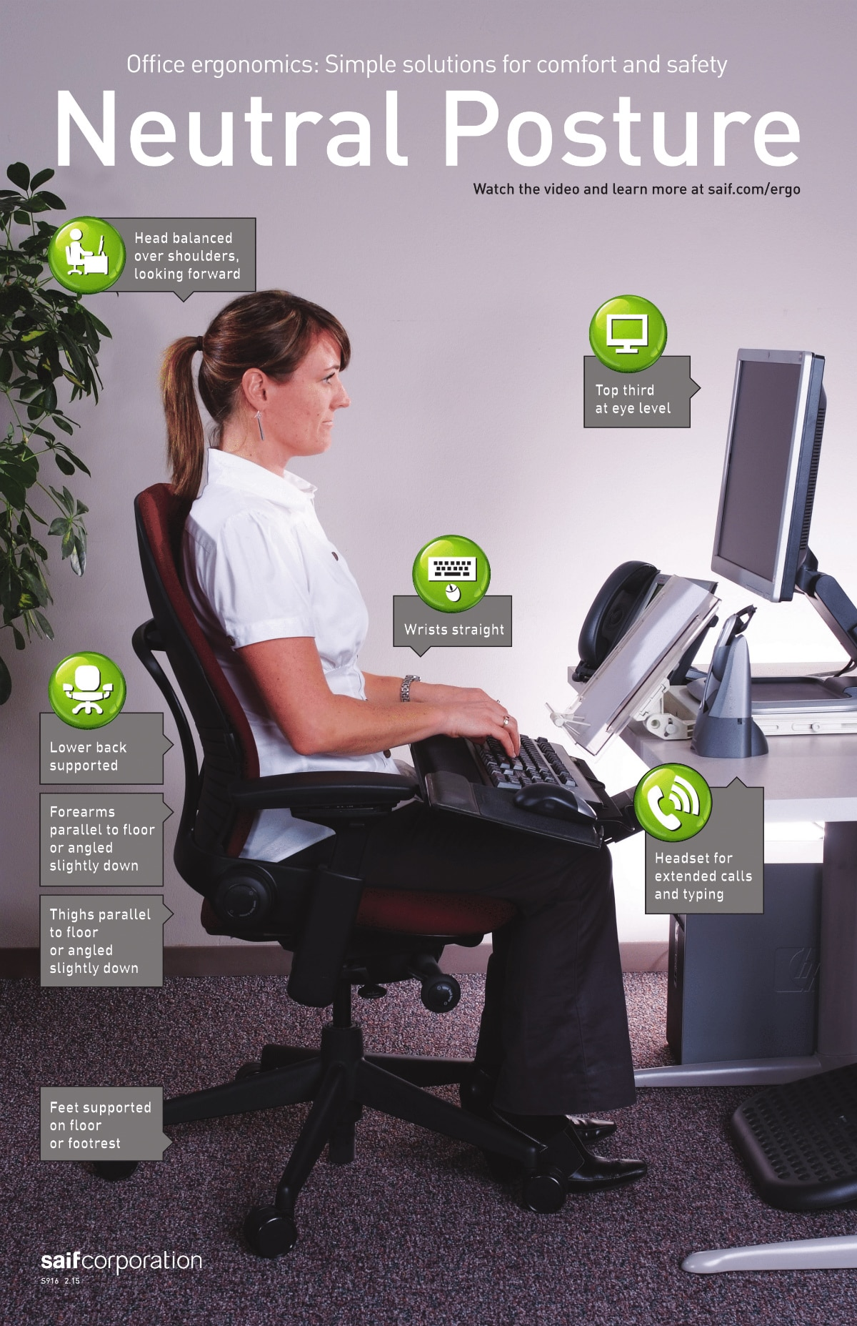 Computer Screen amp VDU Safety Posters Poster Template