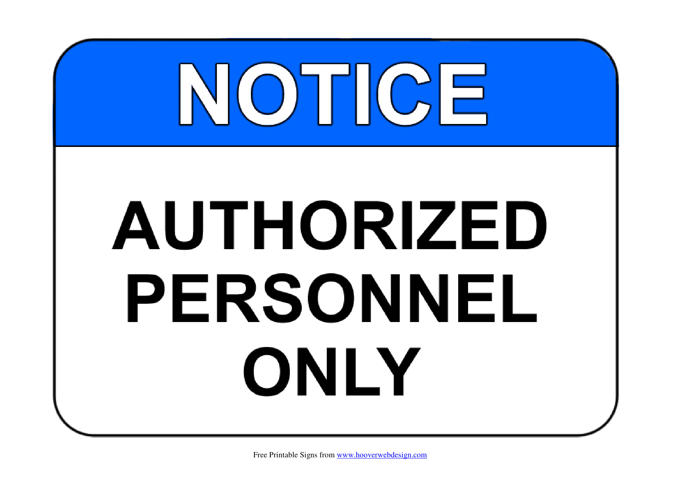 authorised personnel only signs