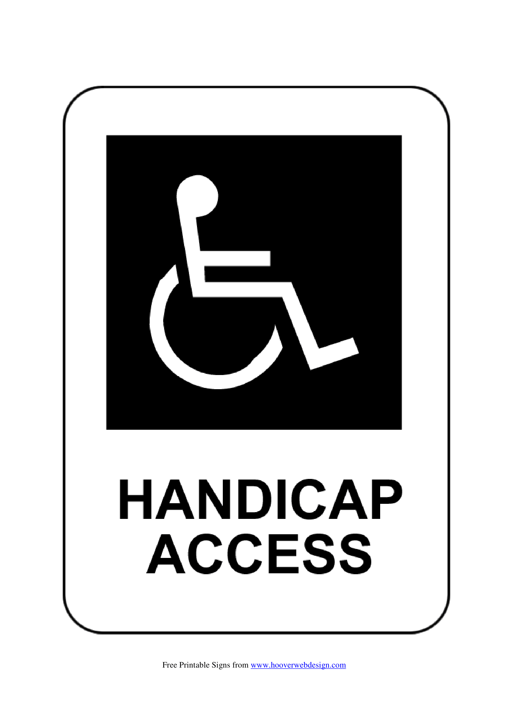 This is a graphic of Printable Handicap Signs regarding employee parking