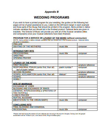 Word Wedding Program Template from www.postertemplate.co.uk