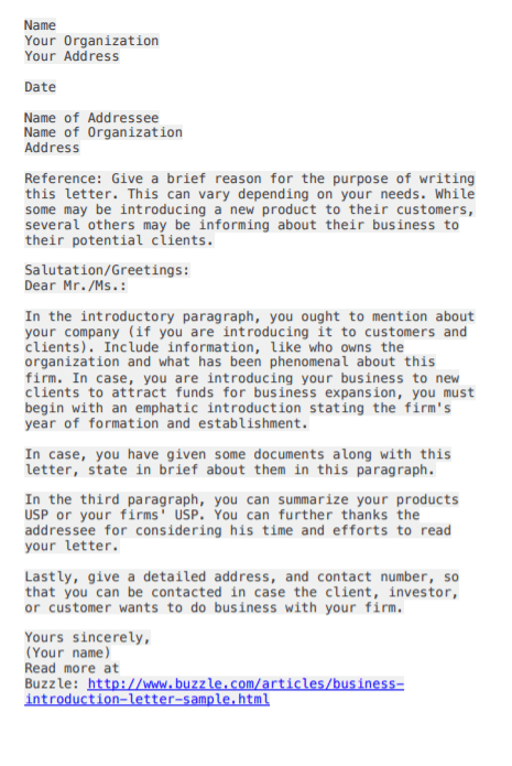 Sample Business Introductory Letter from www.postertemplate.co.uk