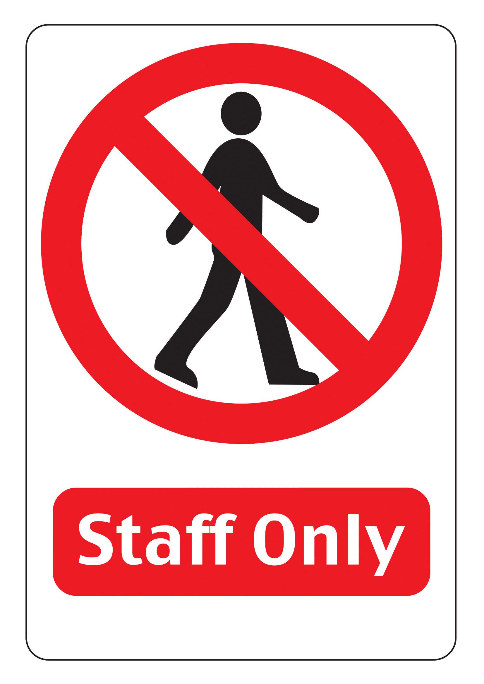 Staff Only Signs Poster Template