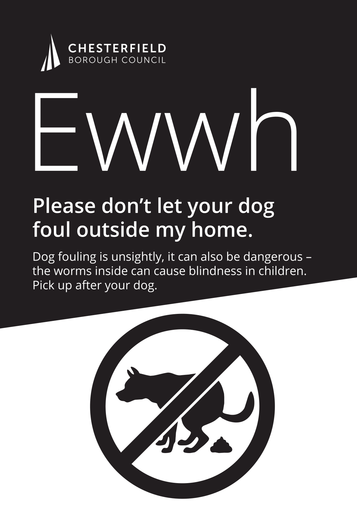 Dog Fouling Signs Poster Template