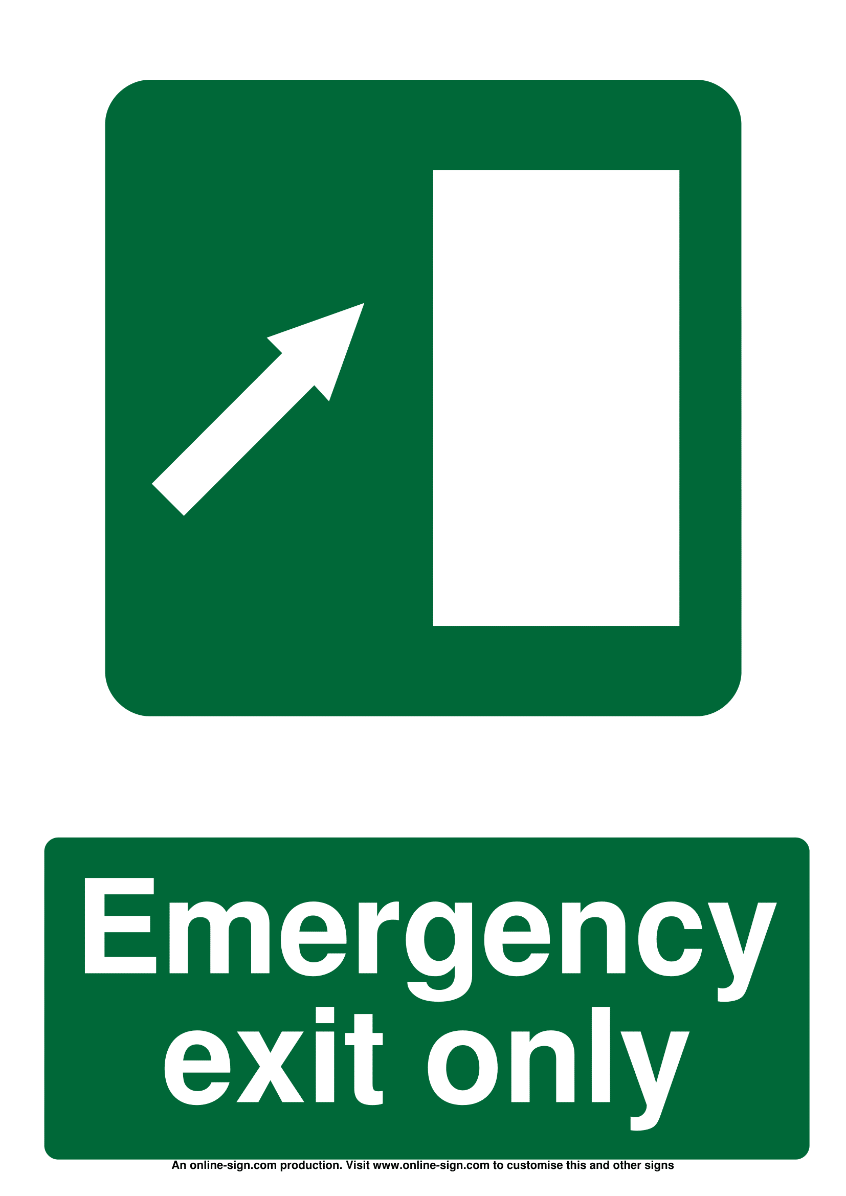 picture about Printable Exit Signs named Unexpected emergency Exit Symptoms Poster Template