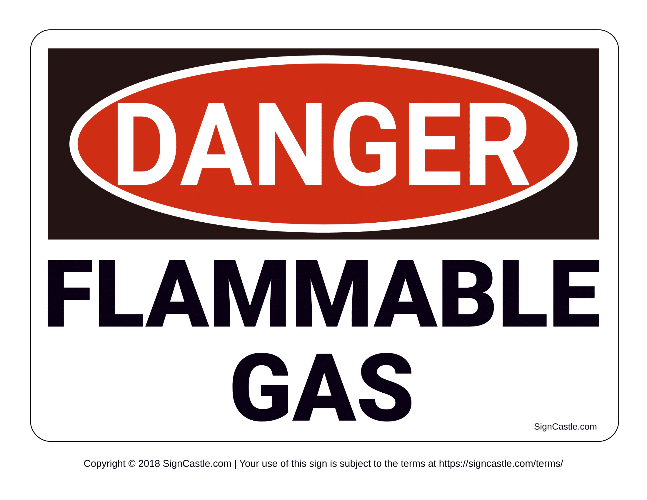 Danger Highly Flammable Gases Sign