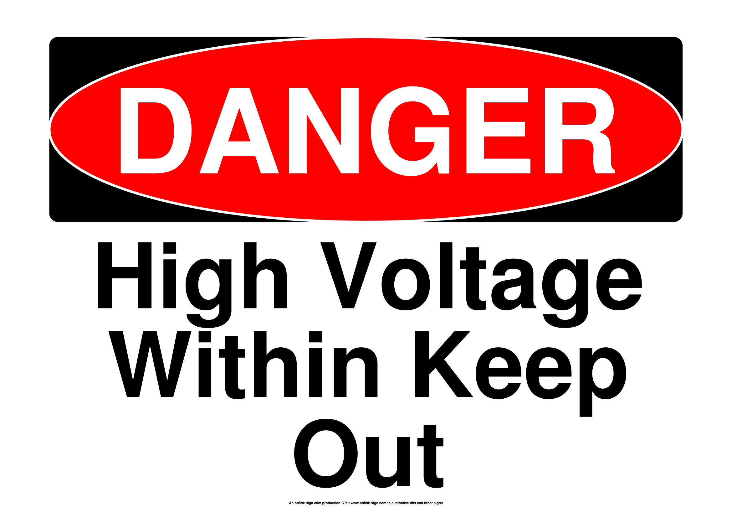 Electrical Warning Signs | Poster Template