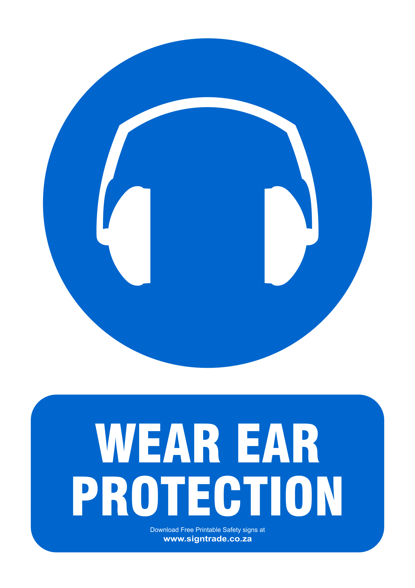 graphic relating to Free Printable Food Safety Signs named Ear Safety Symptoms Poster Template