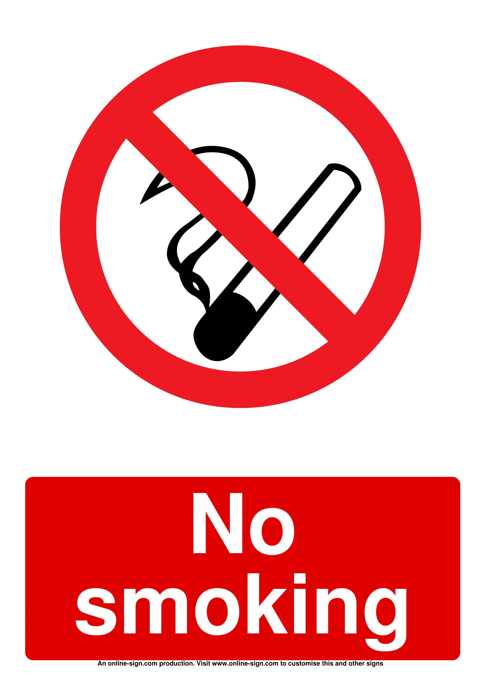 car no smoking signs