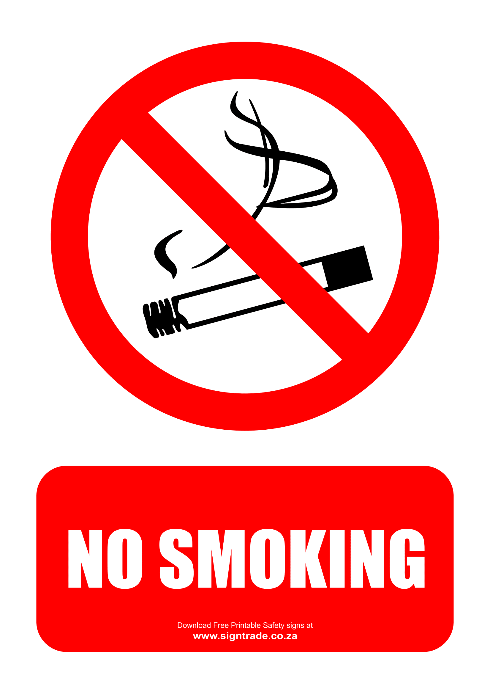 image about Printable No Smoking Sign identify No Cigarette smoking Indications Poster Template