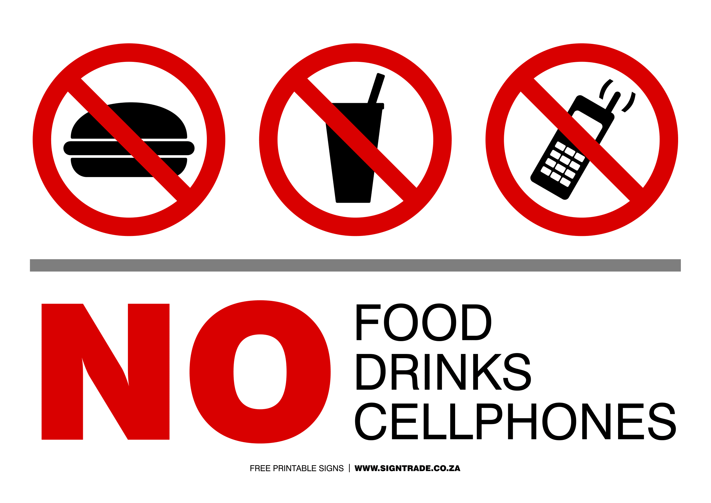 image relating to No Food or Drink Signs Printable titled No Food stuff Or Consume Symptoms Poster Template