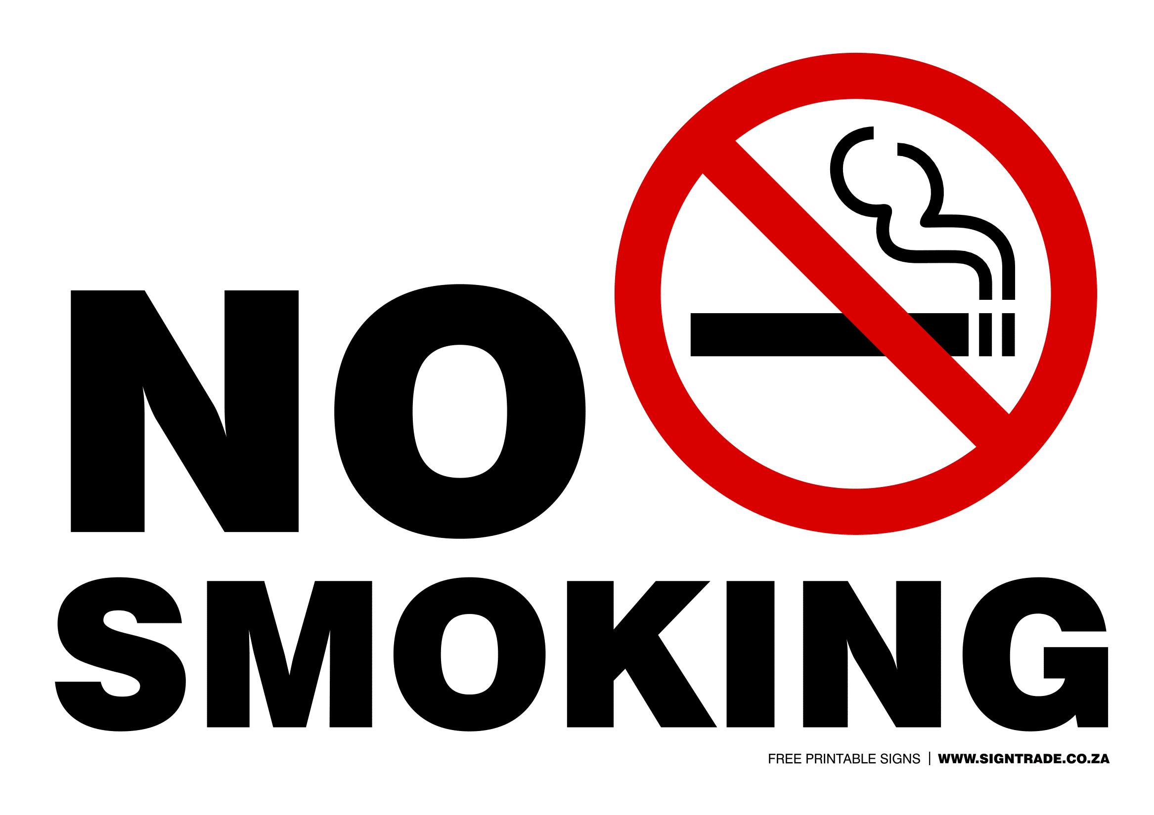 No Smoking Signs Poster Template