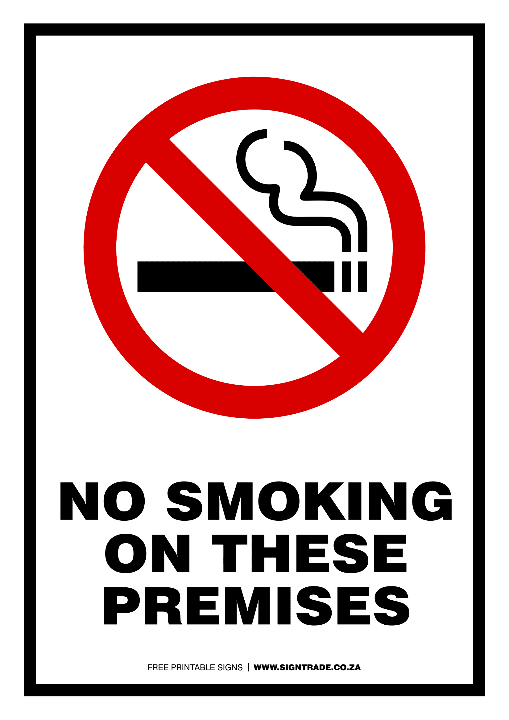 This is an image of No Smoking Sign Printable inside indicator