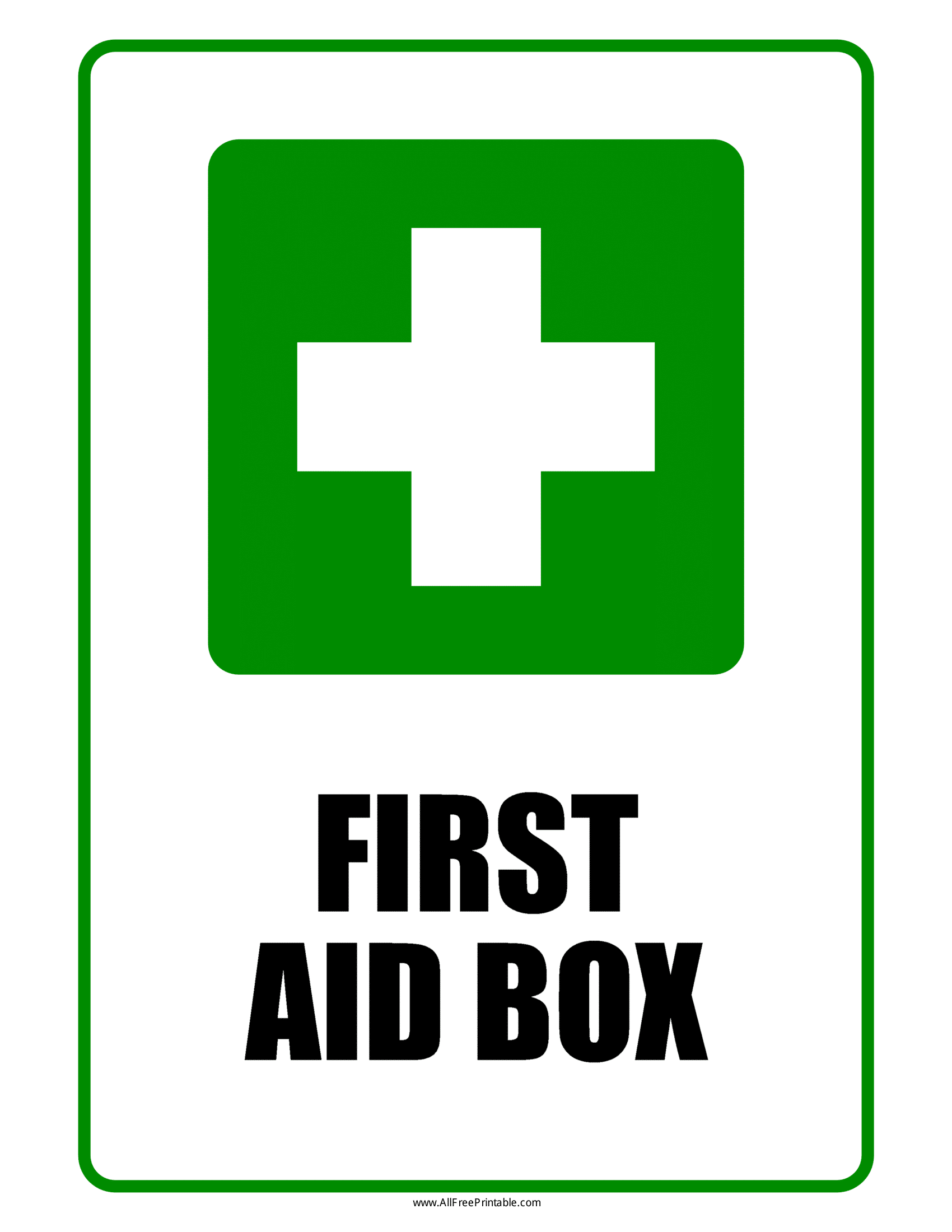 picture relating to Printable First Aid Sign titled 1st Help Box Symptoms Poster Template