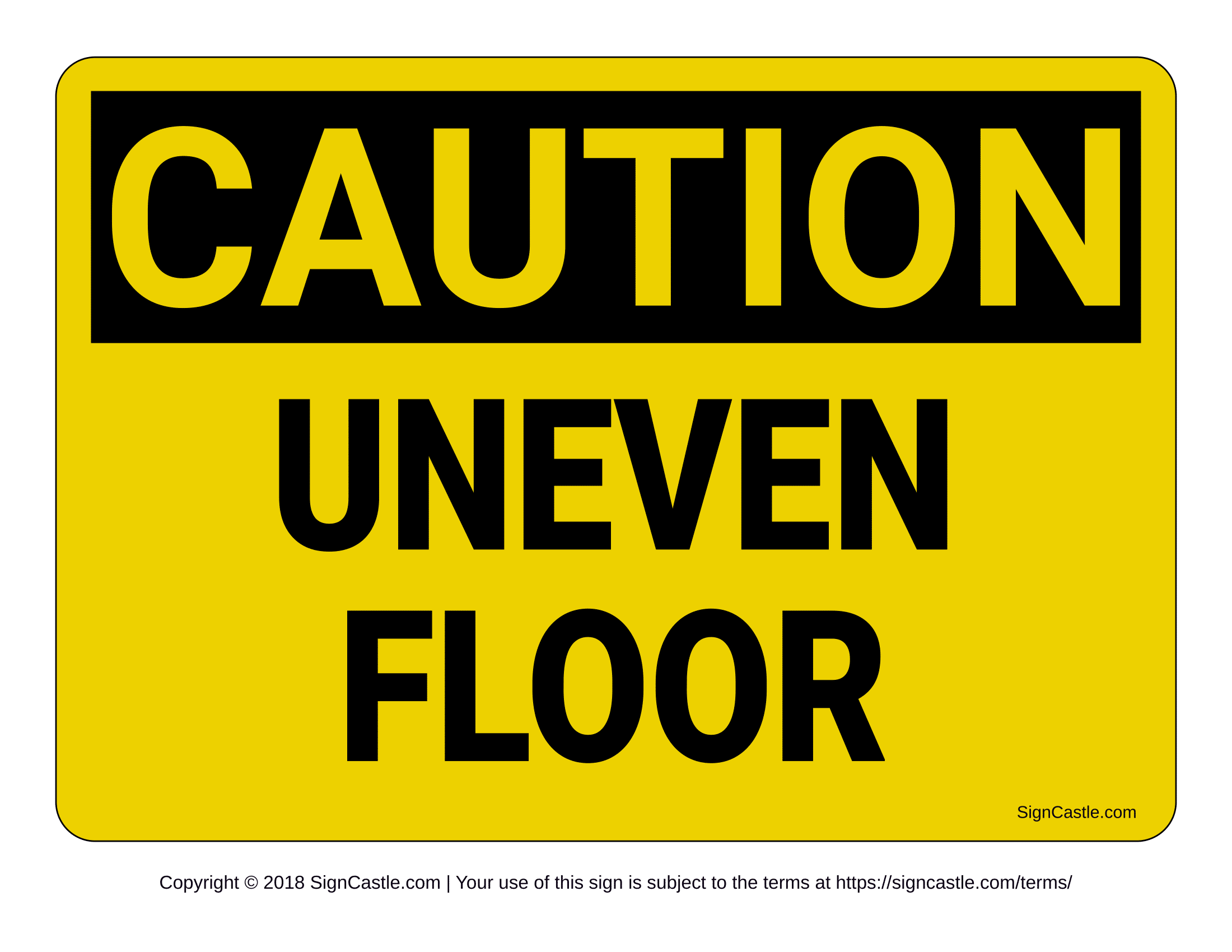 Caution Signs Poster Template