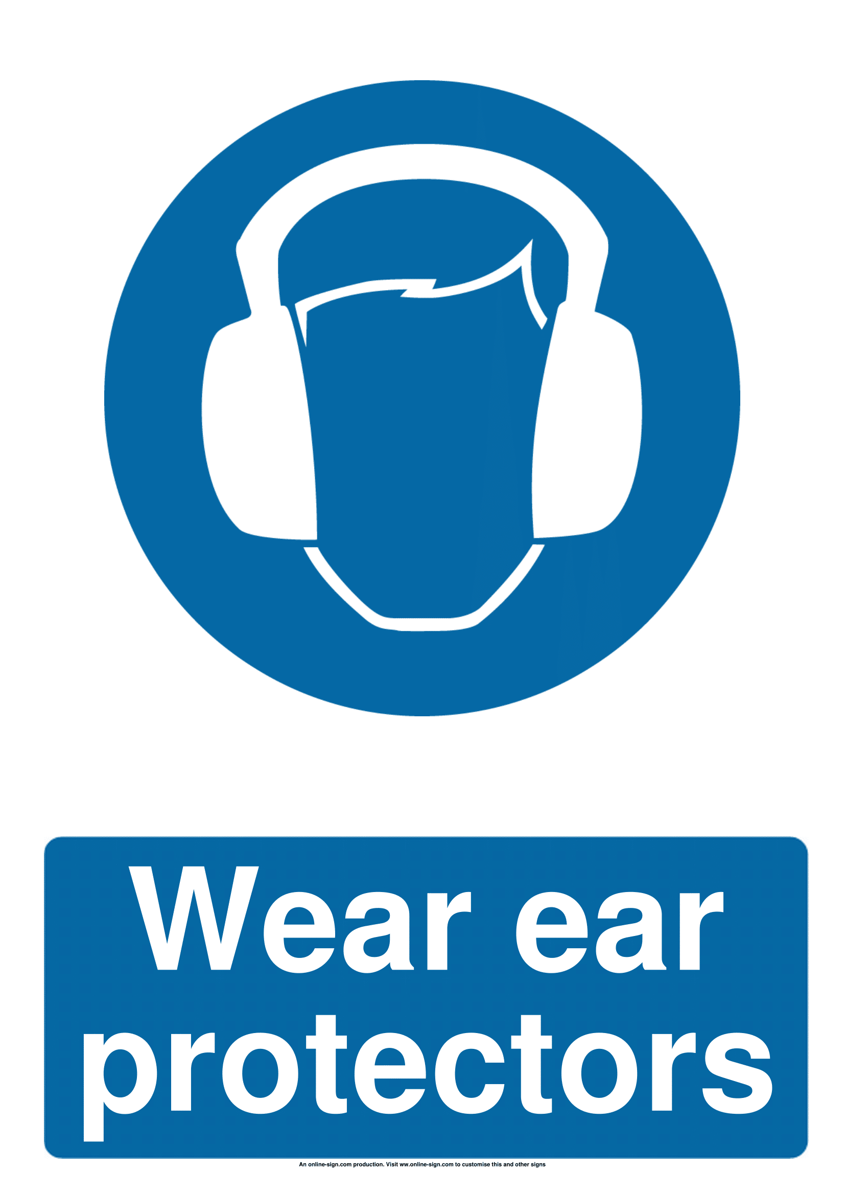 Ear Protection Signs | Poster Template